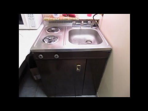 Wood's C015 vintage compact/all-in-one kitchen - YouTube