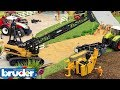 BRUDER TOYS bulldozer CRASH! RC CRANE and TRACTOR rescue mission | Video for kids | Toyz Rule 2018