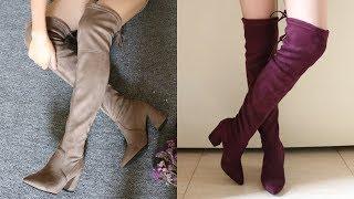 Обувь на AliExpress обзор - женские сапоги ботфорты