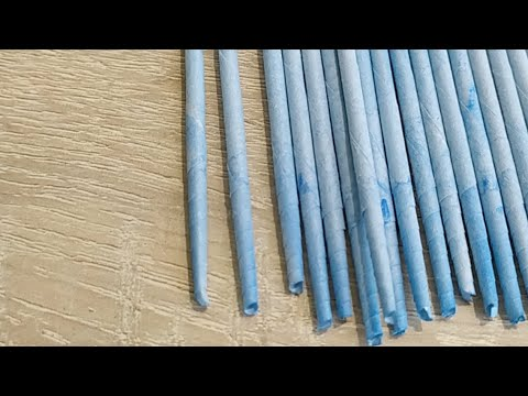 Плетем Кашпо  для цветов из газетных трубочек