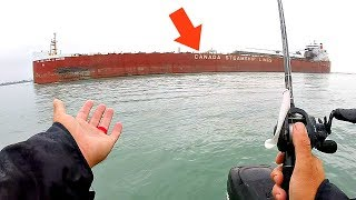 Canadians Wreck our AMAZING Fishing Spot!!!