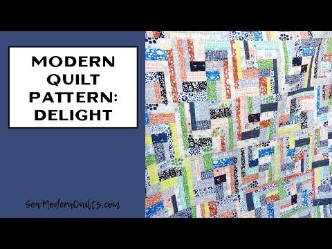 Sew Modern Quilts: Delight A Modern Quilt Pattern