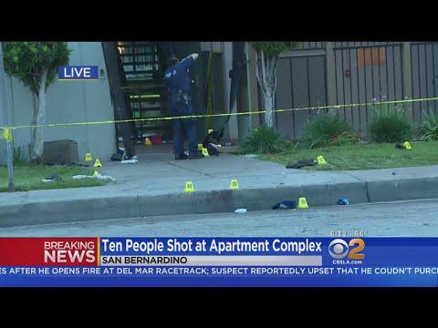 10 Wounded In Gun Battle At San Bernardino Apartment Complex