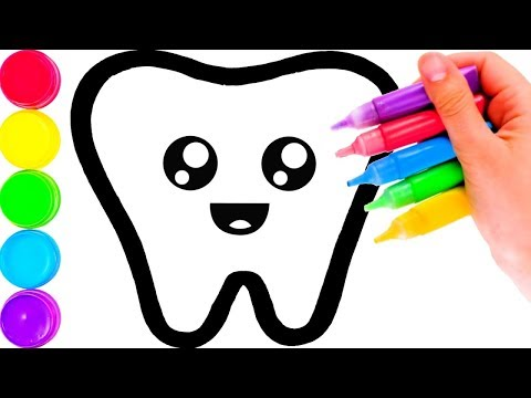 02ebe1c6799 Glitter Toy Tooth & Toothpaste coloring and drawing for Kids, Toddlers Кис  Кис