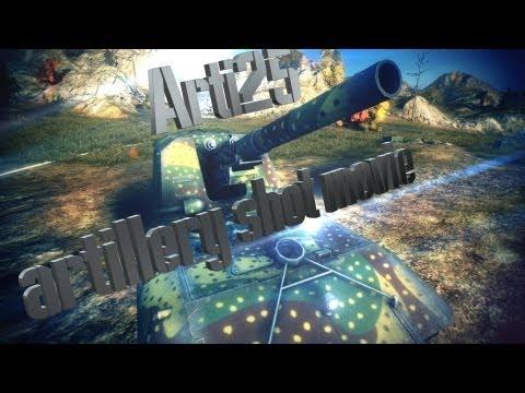 Artillery shot movie. Arti25