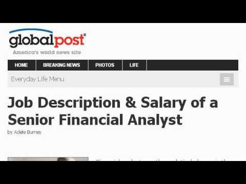 Job Description And Pay For A Financial Analyst