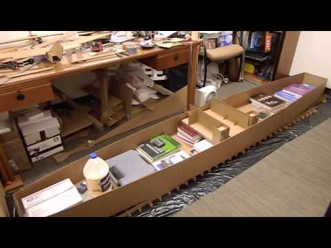 Cardboard Boat 2015: The Flash. Build Part 1/2
