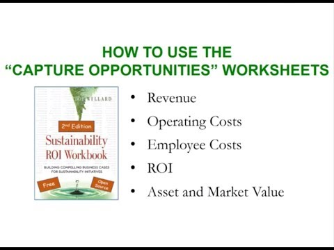 """#4 How to Use the """"Capture Opportunities"""" Worksheets - The Sustainability Advantage ROI Workbook"""