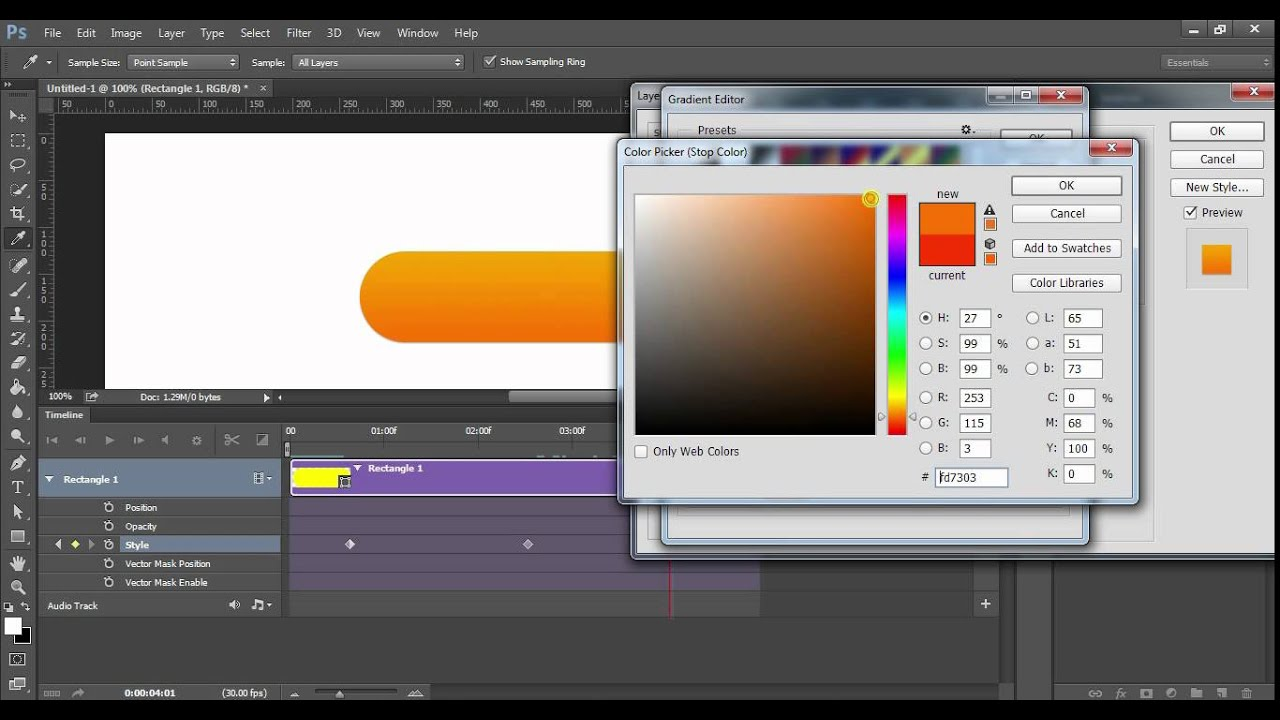 how to create animated buttons in Photoshop tutorial