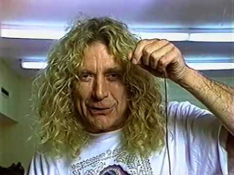 Robert Plant Backstage 1993 (Dallas)