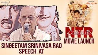 Singeetam Srinivasa Rao Speech at NTRBiopic Movie Launch Event - Nandamuri Balakrishna