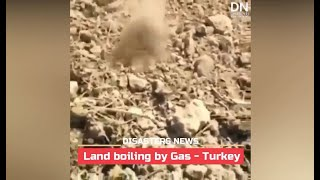 Land boiling by Gas after earthquake in Turkey - Sep. 21, 2020