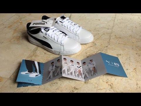 hot sale online b38e6 64d3a [UNBOXING] Puma X BTS Court Star