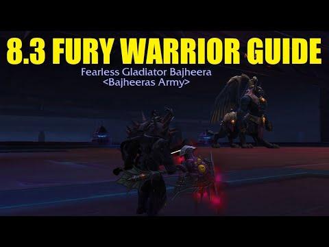 Bajheera - 8.3 Fury Warrior Guide (PvE & PvP) - Gear, Talents & Essences