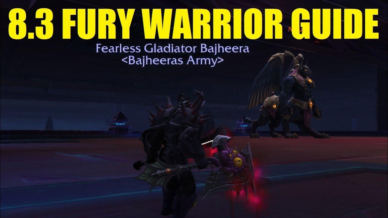Bajheera 8 3 Fury Warrior Guide Pve Pvp Gear Talents Essences Youtube
