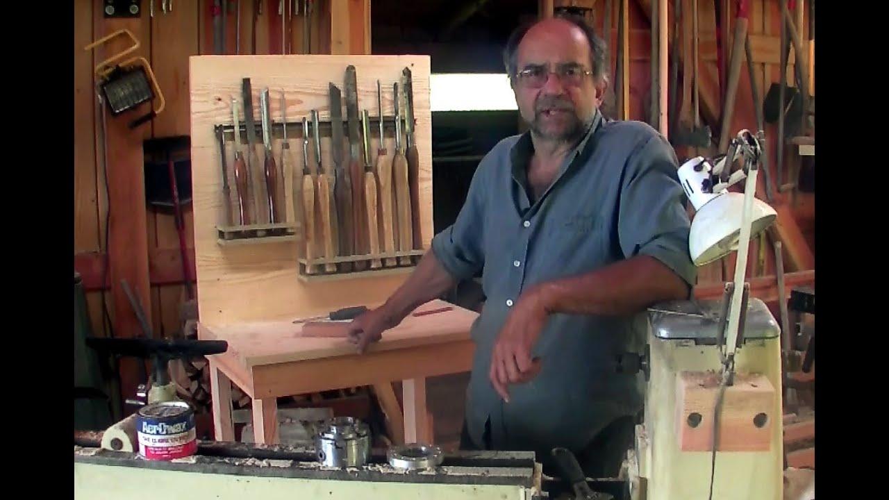 Wood Lathe Accessory Bench - YouTube