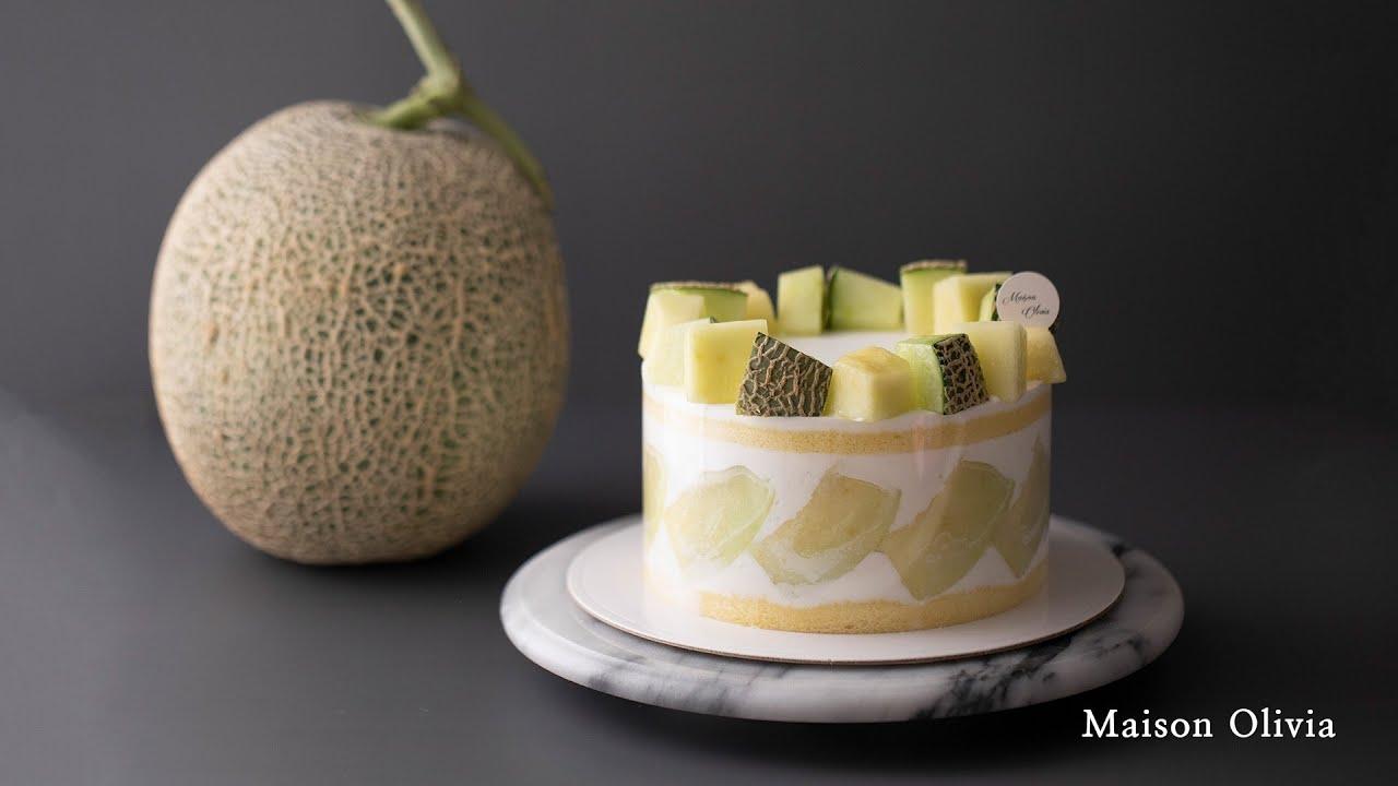 [SUB]아이싱 스트레스 없이 생크림케이크 만들기 / 멜론케이크 (No icing ! Melon Cake)