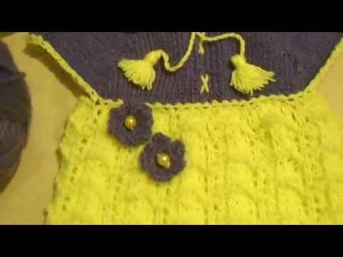 Вязаное платье спицами на 1 годик скачать