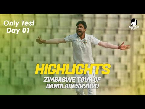 Highlights | Bangladesh vs Zimbabwe | Day 1 | Only Test | Zi