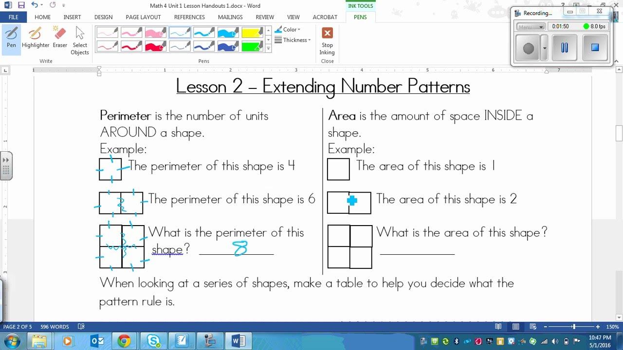 grade 4 math lesson on extending number patterns 1 2 youtube. Black Bedroom Furniture Sets. Home Design Ideas