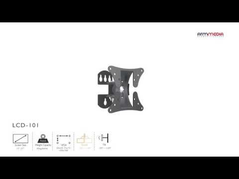 видео: Настенный кронштейн для led/lcd телевизоров arm media lcd-101