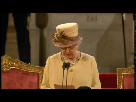 HM The Queen Addresses Houses of Parliament - Diamond Jubilee - March 2012