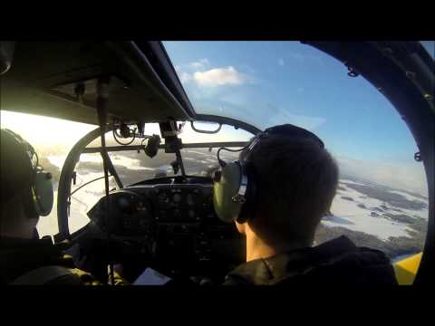 Two-ship formation flight with SAAB 91 Safir (SK 50) ...