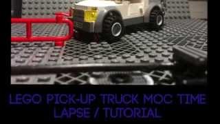 Lego Pick-up Truck Moc Tutorial / Time-lapse Build