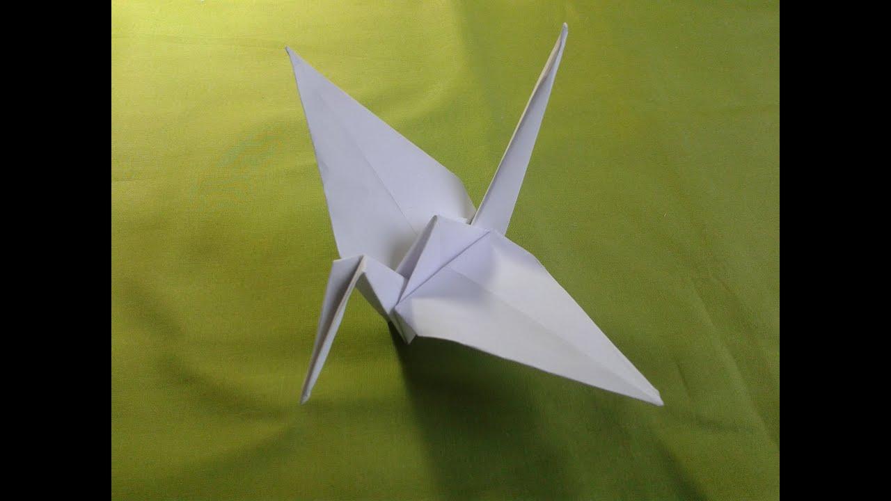 Origami-How to Make a Paper Crane [折り紙] оригами журавлик ... - photo#45