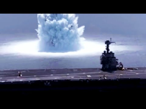 Supercarrier USS Ford LIVE UNDERWATER EXPLOSIVE Full Ship SHOCK TRIALS!
