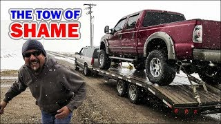 Chevy Suburban Tows a Lifted Ford - The Tow Of SHAME