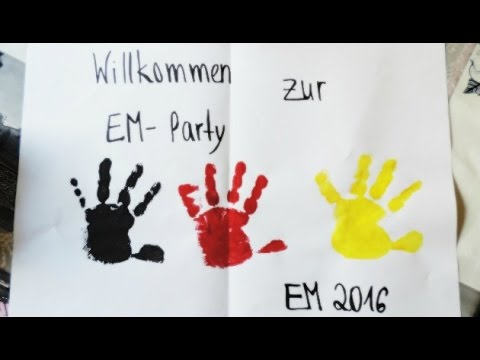 Fussball Em 2016 Diy Basteln Mit Kindern Frau Farbenfroh