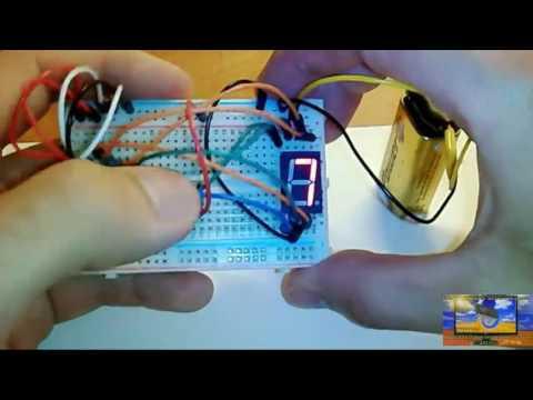Микросхема счетчик до 10 и дешифратор для семисегментного светодиодного индикатора