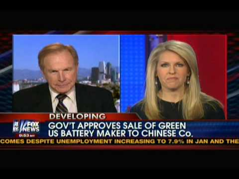 """Governemt approves sale of """"green"""" US battery maker to Chinese company"""