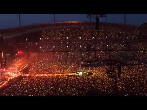 Coldplay Fix You Manchester Etihad Stadium 04/06/16