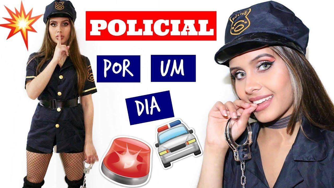 a89ce2a34 Arrume-se comigo  CARNAVAL (fantasia de policial) - YouTube
