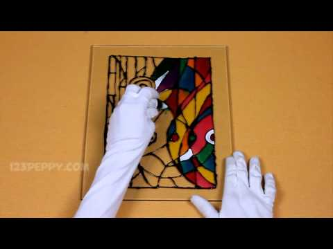 How to Make a Abstract Glass Painting