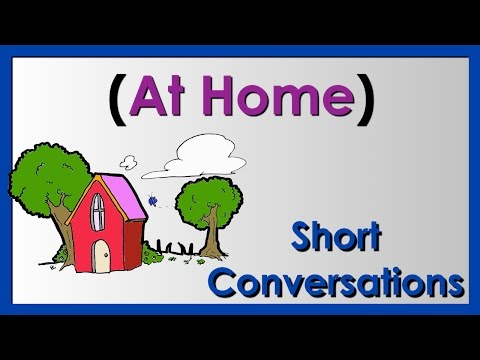 At Home | Easy English Conversation Practice | ESL.