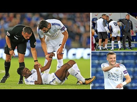 #MU News -Leicester 2-1 monchengladbach: kelechi iheanacho injured in foxes win