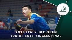 Xiang Peng vs Zeng Beixun | 2019 ITTF Italy J&C Open Highlights  (JBS Final)