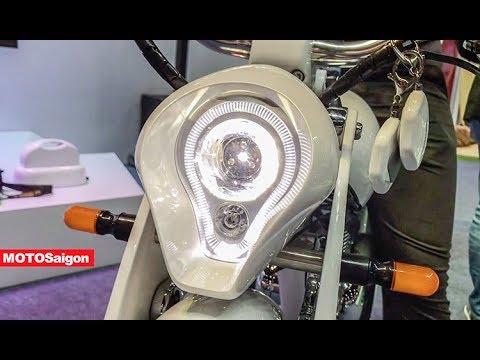 Cạn cảnh xe máy điện Munro Retro 2.0