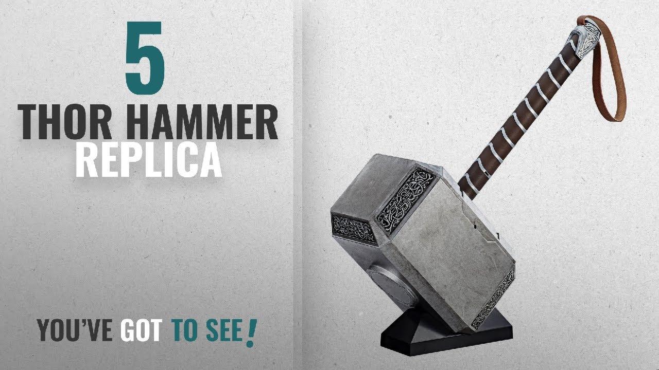 Top 10 Thor Hammer Replica [2018]: Marvel Legends Series Mjolnir Electronic Hammer