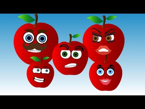 Thumbnail: Apple Finger Family Song Nursery Rhymes for Kids | Learning Fruits