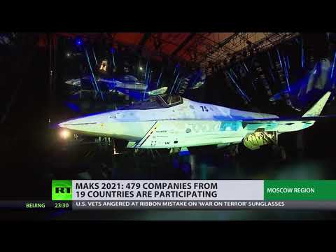 MAKS' first day brings revelations | Putin inspected brand-new stealth fighter jet 'Checkmate'