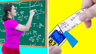 8 CRAZY WAYS TO SNEAK CHEAT SHEET INTO CLASS | FUNNY SCHOOL HACKS & COOL SITUATIONS BY CRAFTY HACKS