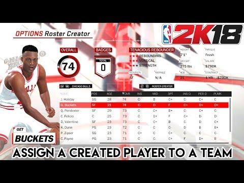 How to Assign a Created Player to a Team in NBA 2K18