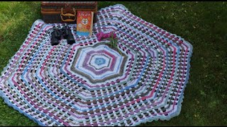 How To Crochet Garden Gate Afghan Part 2