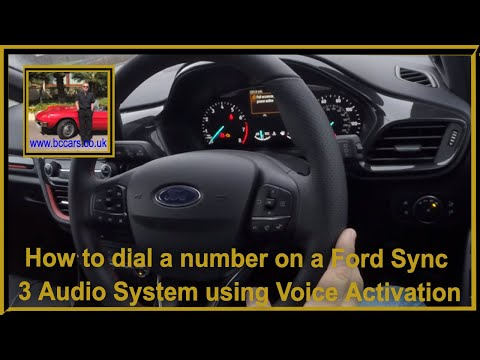 How to dial a number on a Ford Sync 3 Audio System using Voice Activation