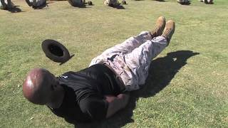 BEST US Military Marine Drill Instructor TOUGH Exercise Fitness Run