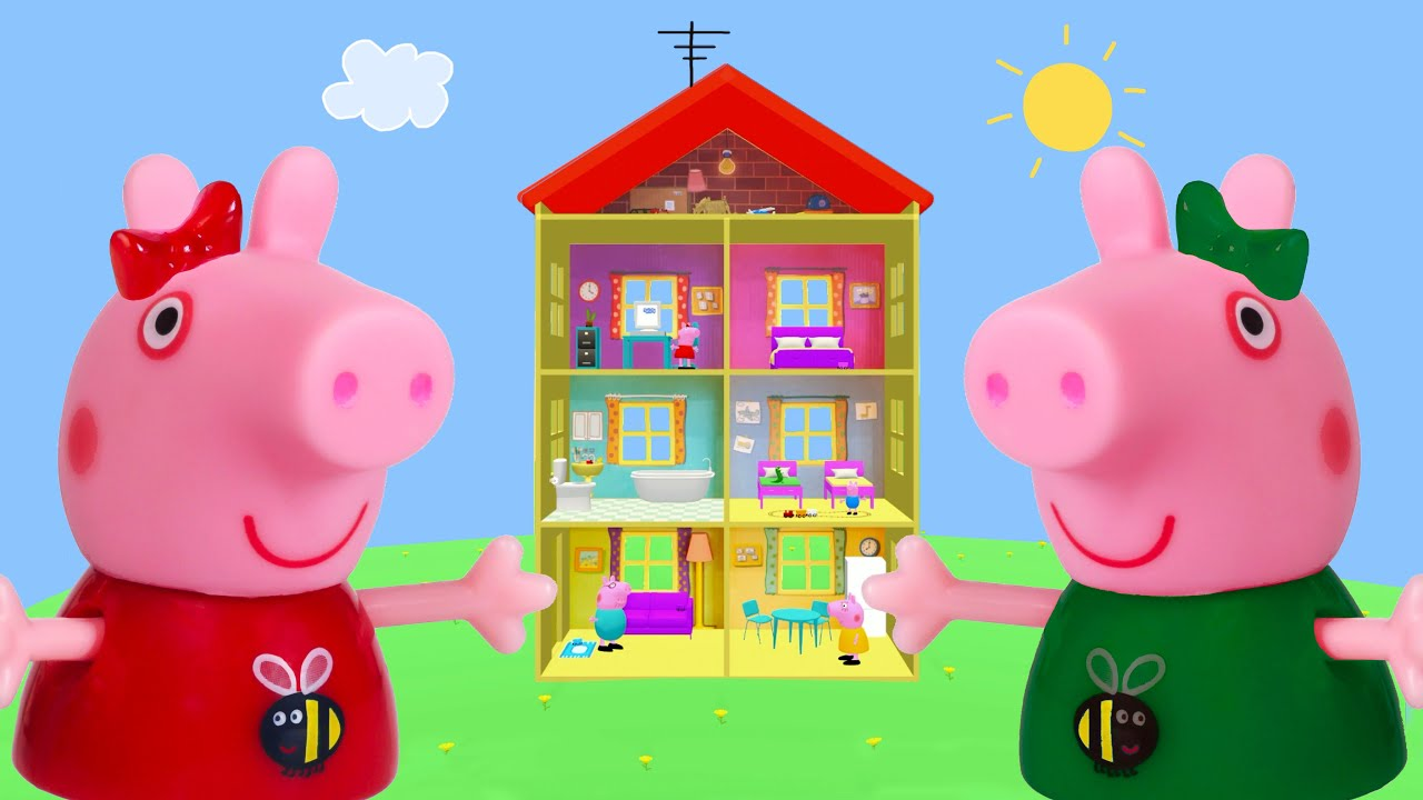 Peppa Pig Game | Crocodile Hiding in Peppa Pig Toys ...